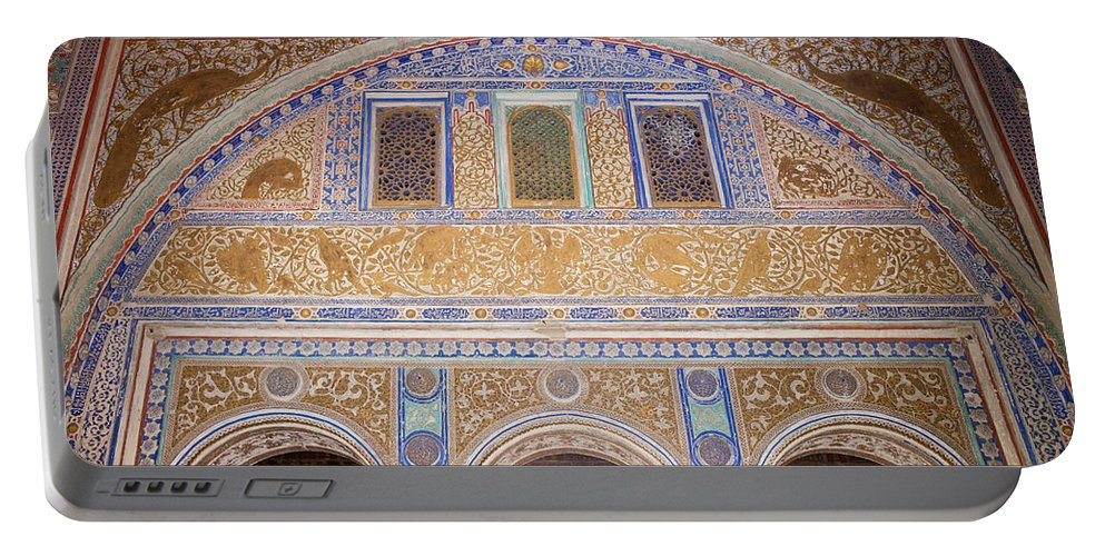Seville Portable Battery Charger featuring the photograph Hall Of Ambassadors In The Royal Alcazar Of Seville by Artur Bogacki