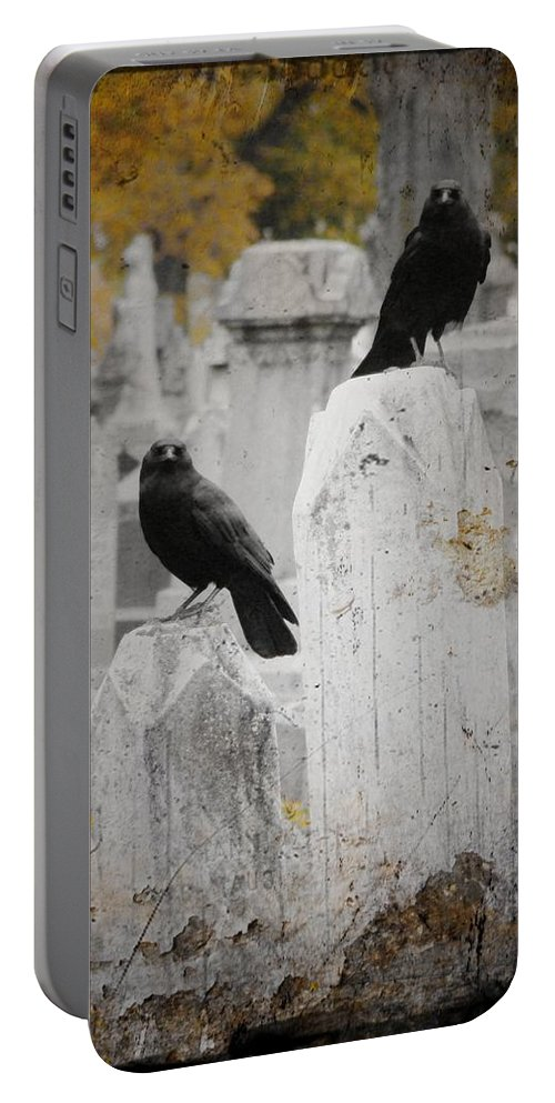 Fall Portable Battery Charger featuring the photograph Halloween Is In The Autumn Air by Gothicrow Images
