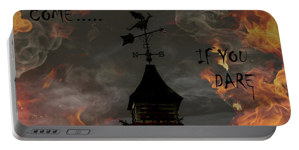 Halloween Portable Battery Charger featuring the photograph Halloween Party Invitation by Jackson Pearson