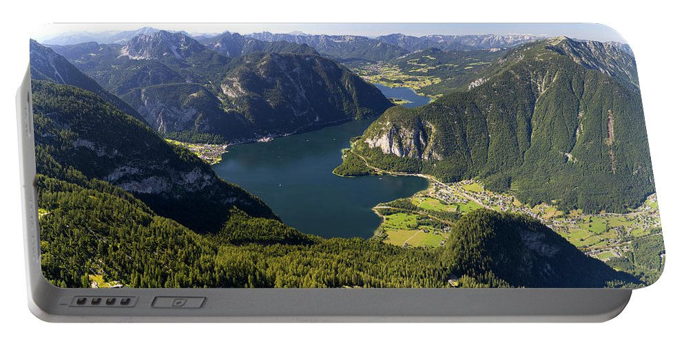 Lake Portable Battery Charger featuring the photograph Hallstatt Lake Austria by Chevy Fleet