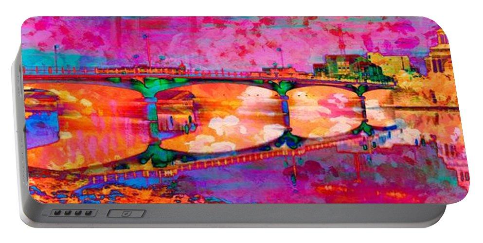 Hamilton Ohio Portable Battery Charger featuring the digital art Hamilton Ohio City Art 5 by Mary Clanahan