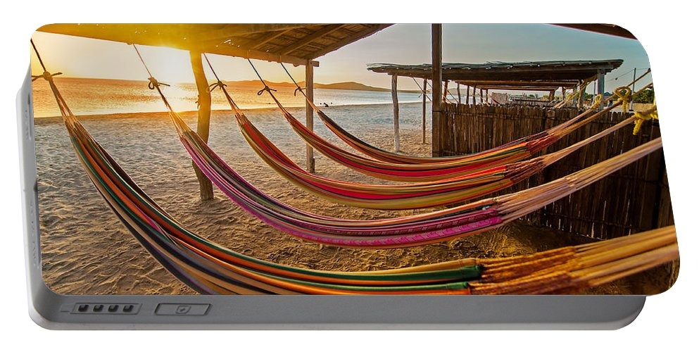 Beach Portable Battery Charger featuring the photograph Hammocks by Jess Kraft