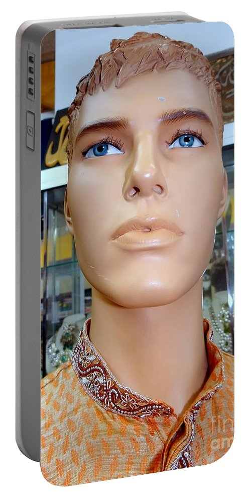 Mannequins Portable Battery Charger featuring the photograph Handsome Harry by Ed Weidman