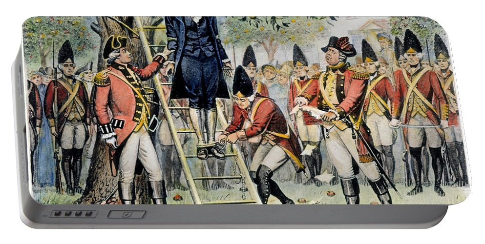 1776 Portable Battery Charger featuring the photograph Hanging Of Nathan Hale by Granger