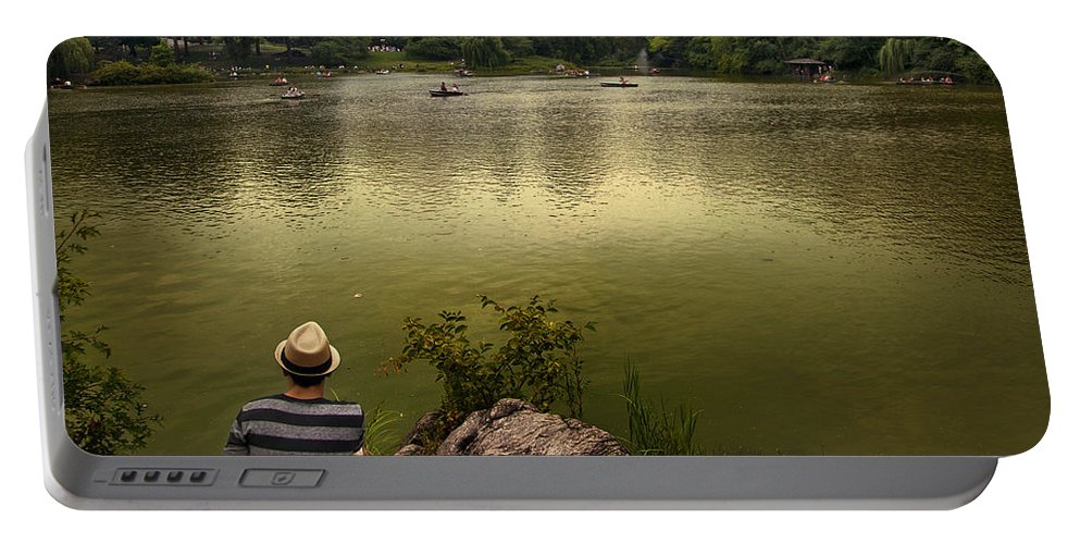 Central Park Portable Battery Charger featuring the photograph Hanging Out In Central Park by Istvan Kadar