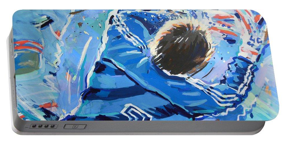Hans Van Breukelen Ek 88 Portable Battery Charger featuring the painting Hans Van Breukelen Ek 88 by Lucia Hoogervorst
