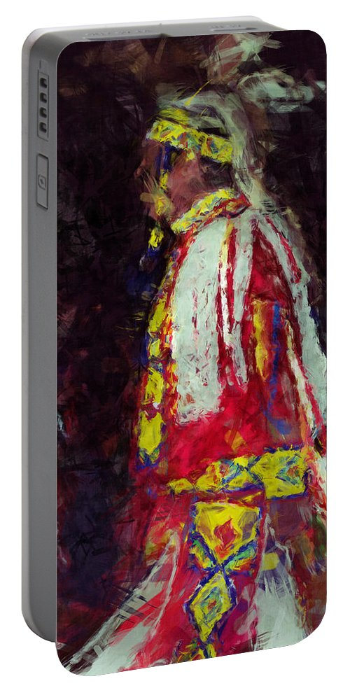 Digital Photo Painting Portable Battery Charger featuring the digital art Hanvdadiasgo by Christy Leigh