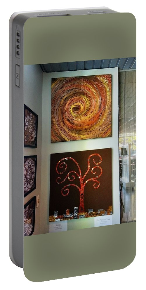 Example Portable Battery Charger featuring the painting Hapa Sushi Cherry Creek 4 by Angelina Vick