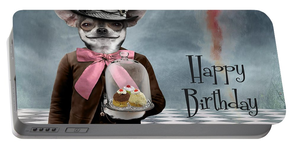Animal Portable Battery Charger featuring the photograph Happy Birthday by Juli Scalzi