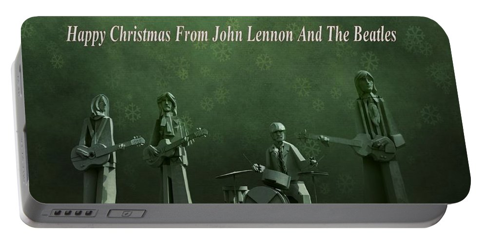 Happy Christmas From John Lennon Portable Battery Charger featuring the photograph Happy Christmas From John Lennon by Dan Sproul