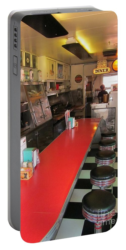 Diner Interior Photographs Portable Battery Charger featuring the photograph Happy Days Near Deadwood by John Malone