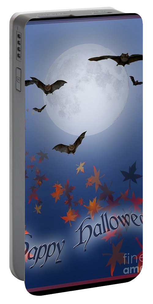 Halloween Portable Battery Charger featuring the digital art Happy Halloween by Melissa A Benson