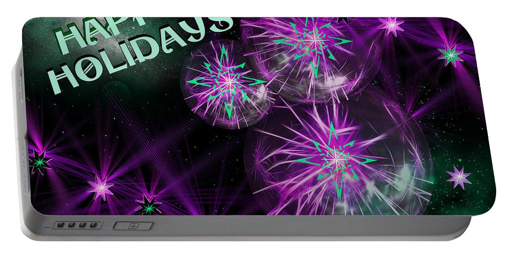 Star Portable Battery Charger featuring the digital art Happy Holidays by Ericamaxine Price