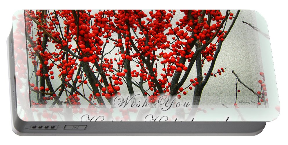 Christmas Portable Battery Charger featuring the photograph Happy Holidays by Xueling Zou