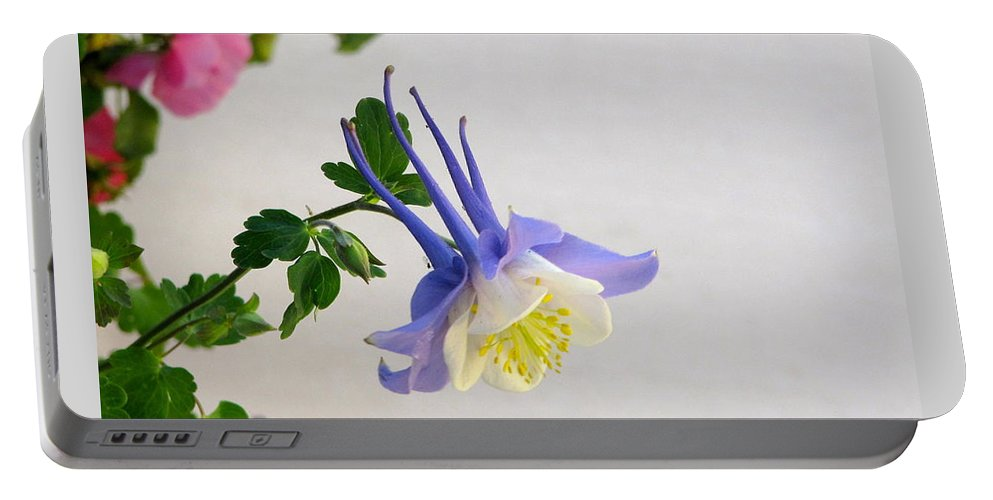 Columbine Portable Battery Charger featuring the photograph Happy Little Columbine by Phyllis Kaltenbach