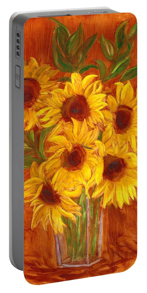 Still Life Portable Battery Charger featuring the painting Happy Mother's Day by Paula Emery