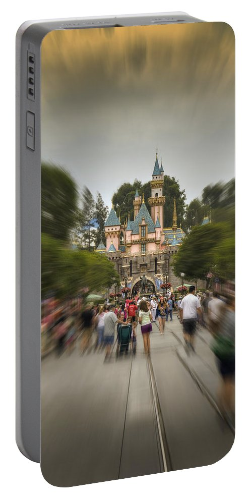 Walt Portable Battery Charger featuring the photograph Happy Walk by Ricky Barnard