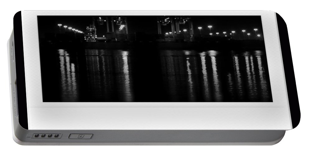Harbor Portable Battery Charger featuring the photograph Harbor Night by Kathleen Odenthal