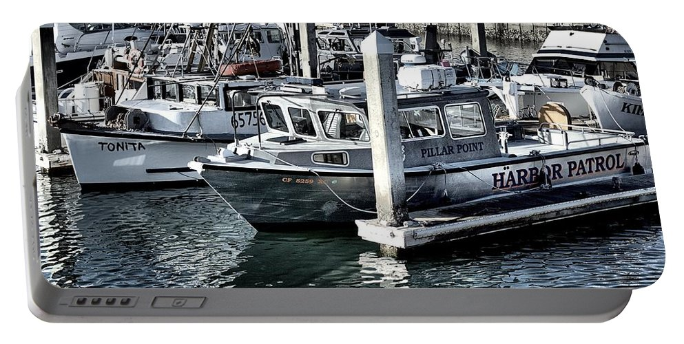 Harbor Patrol Portable Battery Charger featuring the photograph Harbor Patrol by Scott Hill