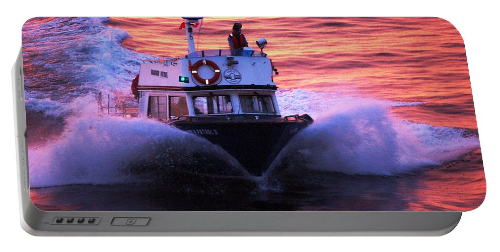 Approaching Portable Battery Charger featuring the photograph Harbor Pilot by Flamingo Graphix John Ellis