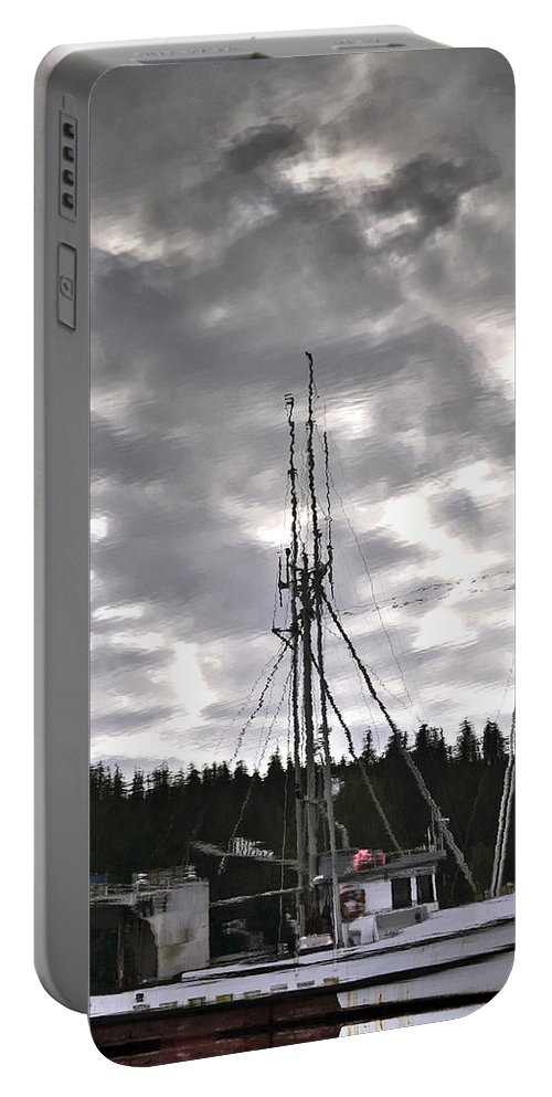 Reflection Portable Battery Charger featuring the photograph Harbor Reflection by Cathy Mahnke