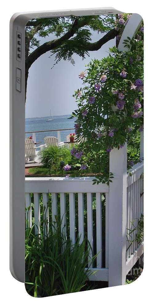 Provincetown Harbor Portable Battery Charger featuring the photograph Harbor View by Michelle Welles