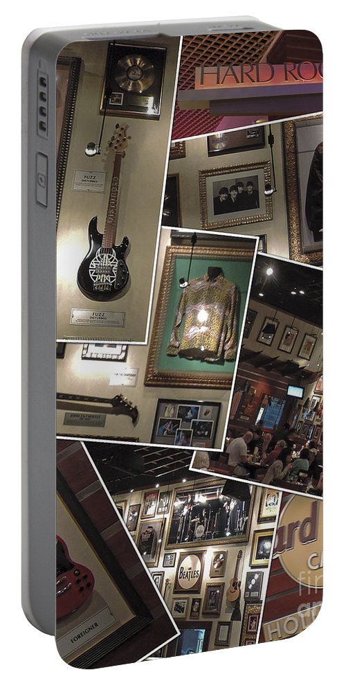 Florida Portable Battery Charger featuring the photograph Hard Rock Cafe Hollywood Florida by Nancy L Marshall