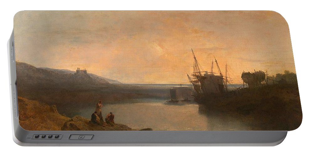 1799 Portable Battery Charger featuring the painting Harlech Castle by JMW Turner