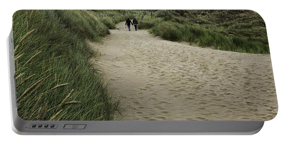 Harlech Portable Battery Charger featuring the photograph Harlech Dunes by Fran Gallogly