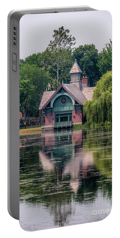 Central Park Portable Battery Charger featuring the photograph Harlem Meer I by Ray Warren