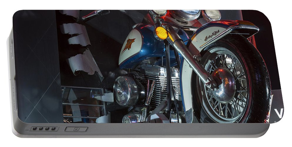 Las Vegas Nevada Harley Davidson Display Displays Motorcycle Motorcycles Store Stores Still Life Portable Battery Charger featuring the photograph Harley Of Vegas by Bob Phillips