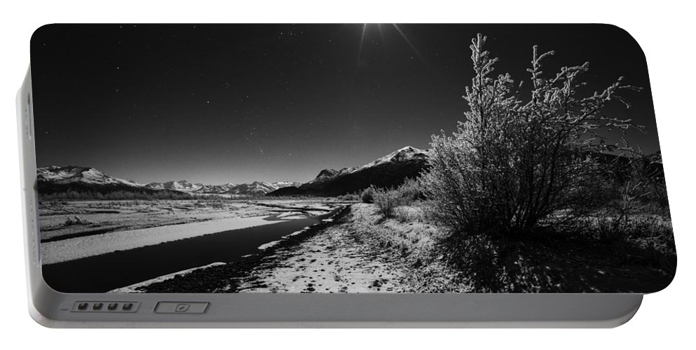Knik River Portable Battery Charger featuring the photograph Harsh Reality by Ted Raynor