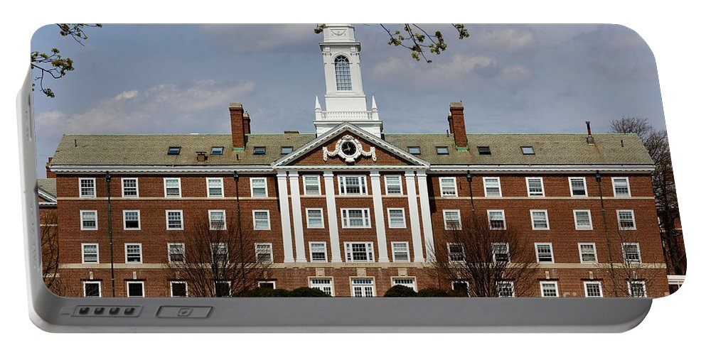 Architecture Portable Battery Charger featuring the photograph Harvard University Moors Hall by Jannis Werner