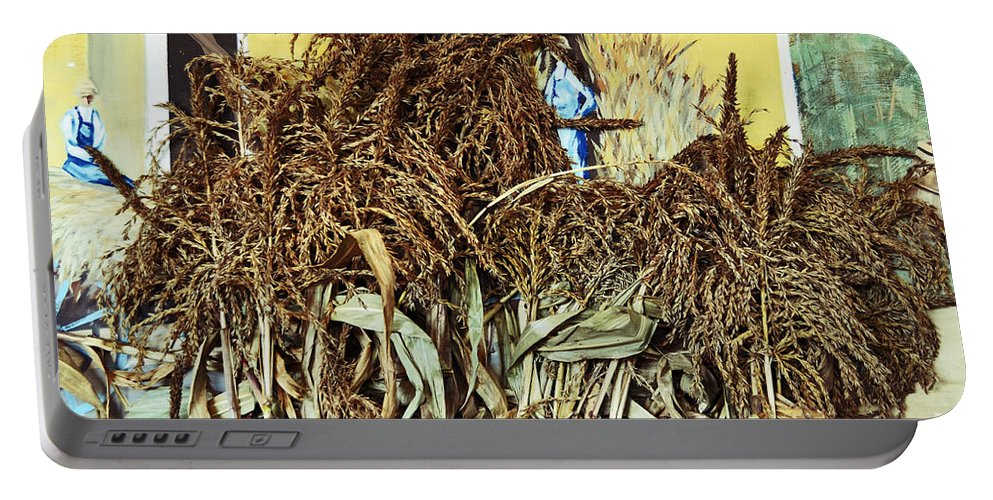 Leaves Portable Battery Charger featuring the photograph Harvest Art by Kevin Fortier