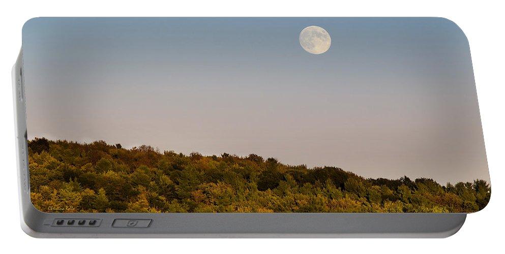 Harvest Moon Portable Battery Charger featuring the photograph Harvest Moon by Christina Rollo