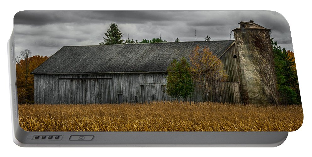 Barn Portable Battery Charger featuring the photograph Harvest Season by Paul Freidlund