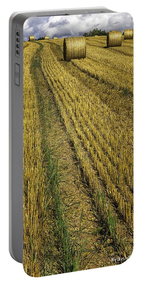 Harvest Portable Battery Charger featuring the photograph Harvest Time by Fran Gallogly