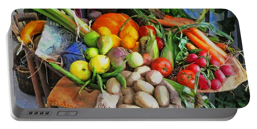 Potatoes Portable Battery Charger featuring the photograph Harvest Time by Steve Taylor