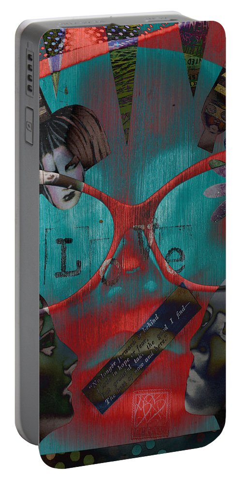 Abstract Portable Battery Charger featuring the photograph Hassel At Bay by The Artist Project
