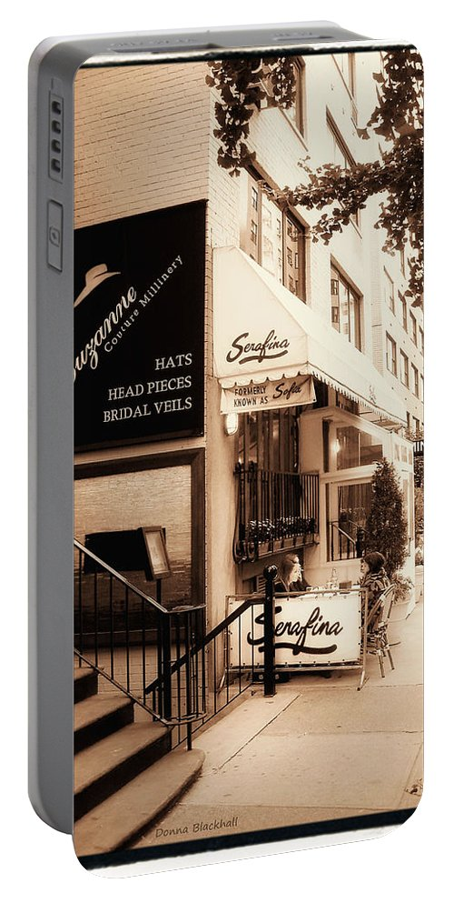 New York Portable Battery Charger featuring the photograph Hat Trick by Donna Blackhall