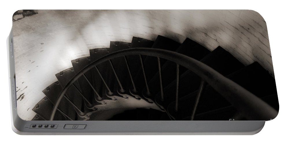 Staircase Portable Battery Charger featuring the photograph Hatteras Staircase by Angela DeFrias