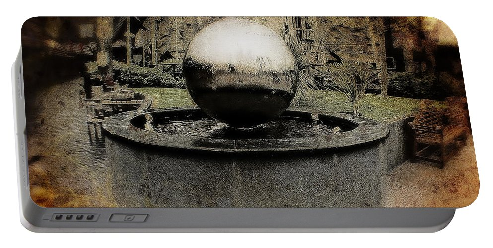 Disney Portable Battery Charger featuring the photograph Haunted Wishing Well by Doc Braham