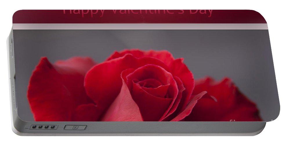 Rose Portable Battery Charger featuring the photograph Hau'oli Ka La Aloha Kakou - Happy Valentine's Day by Sharon Mau
