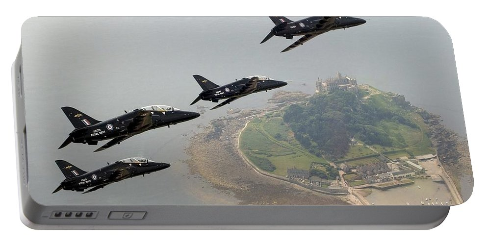 Black Hawk Portable Battery Charger featuring the photograph Hawks by Paul Fearn