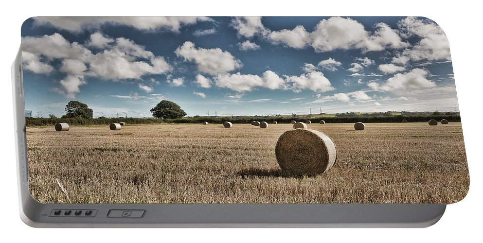 Hay Bales Portable Battery Charger featuring the photograph Hay Bales 1 by Steve Purnell