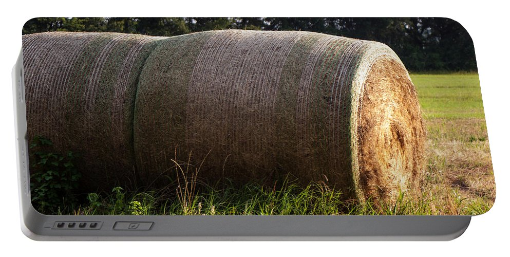 Hay Bales Portable Battery Charger featuring the photograph Hay Bales by Mechala Matthews