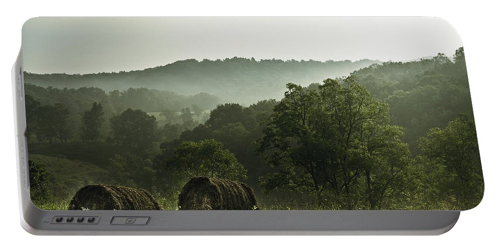 Hay Portable Battery Charger featuring the photograph Hay Bales by Shane Holsclaw