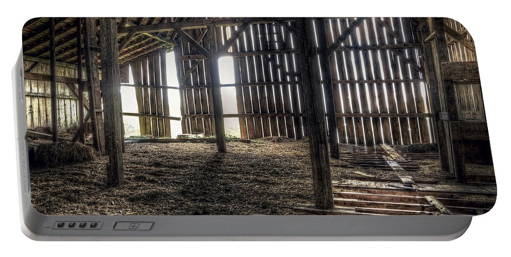 Barn Portable Battery Charger featuring the photograph Hay Loft 2 by Scott Norris