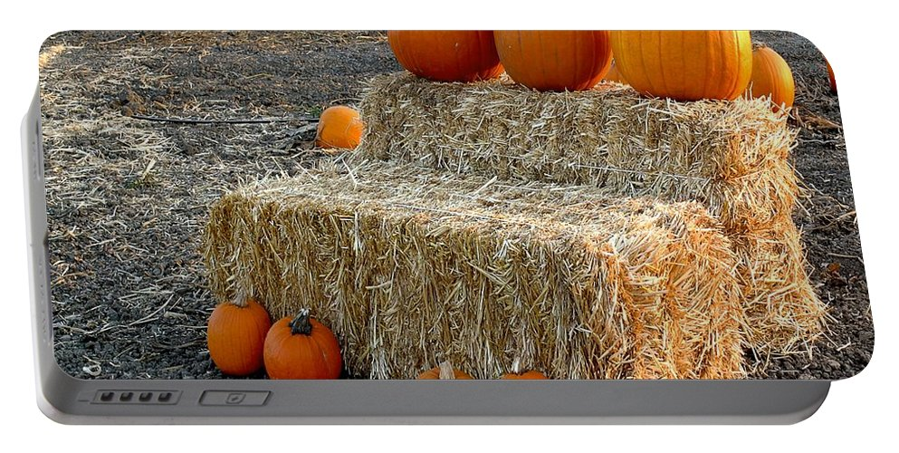 Farming Portable Battery Charger featuring the photograph Hay Steps by Michael Gordon