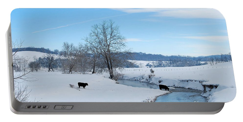 Hays Creek Portable Battery Charger featuring the photograph Hays Creek Winter by Todd Hostetter